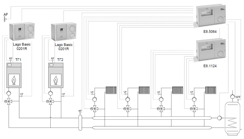 Контроллер E8.1124 гидравлическая схема