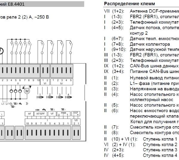 Каскадный контроллер E8.4401 схема подключения