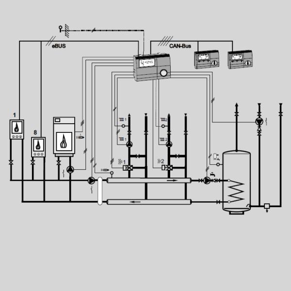 Контроллер E8.5064 гидравлическая схема 1