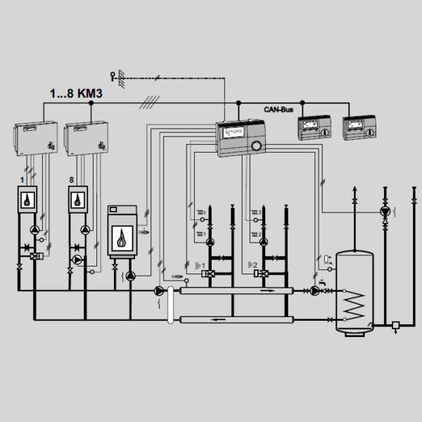 Контроллер E8.5064 гидравлическая схема 2