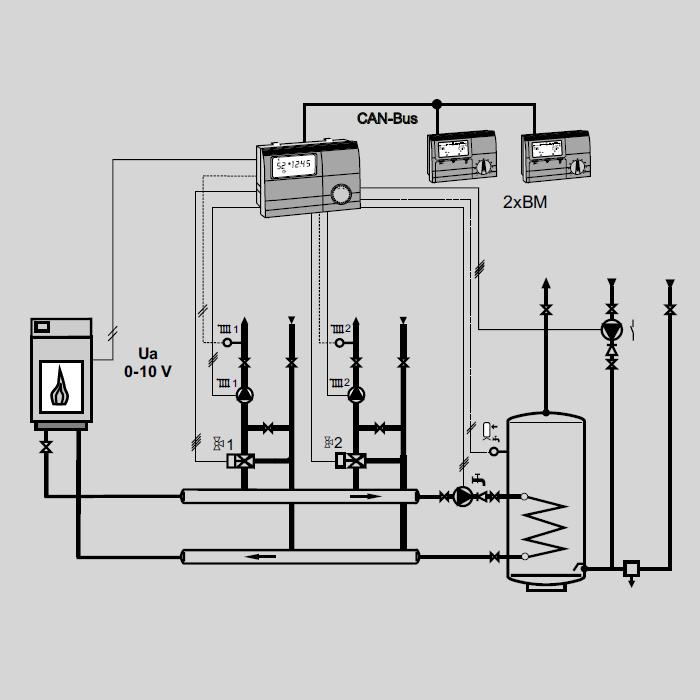 Контроллер E8.5064 гидравлическая схема 3