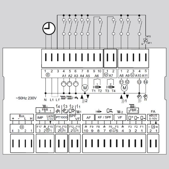 Контроллер E8.5064 схема подключения