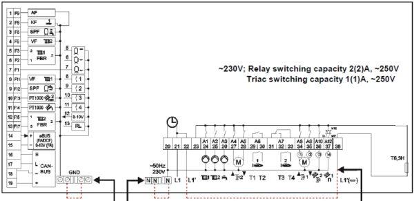 Merlin 5064 V3 схема подключения