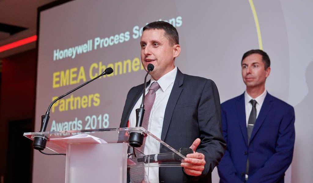 выступление на конференции 2018 Honeywell EMEA Channel Partner Conference